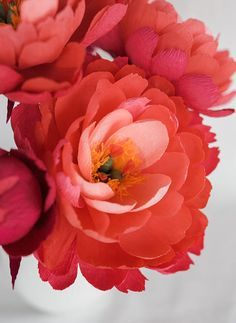 DIY Paper Coral Charm Peony