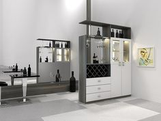 livingroom furniture partition divider wine stand cabinet storage glass shelf