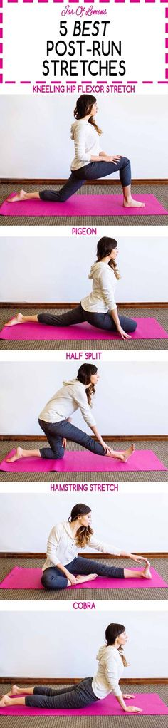 5 Best Post-Run Stretches! Whether you're running long distances or short sprints, these stretches are great for after a workout! /prAna/