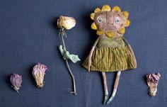 Primitive Flower doll. Agafia doll