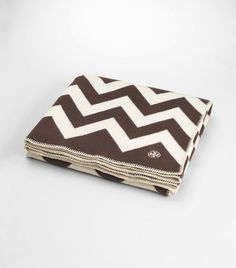 though not a huge fan of Tory Burch, I gotta say this chevron blanket is kind of awesome....