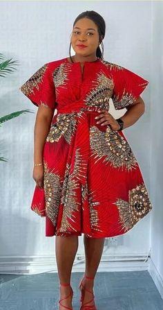 African Fashion Ankara, Latest African Fashion Dresses, African Print Fashion, Women's Fashion Dresses, Short African Dresses, African Print Dresses, African Print Dress Designs, Ankara Gown Styles, Marceline