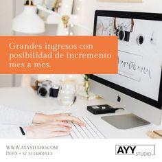 Trabaja desde studio o desde casa! Info: + 57 3114001513  www.ayystudio.com Power Strip, Studio, Home, Bucaramanga, Lights Camera Action, Studios