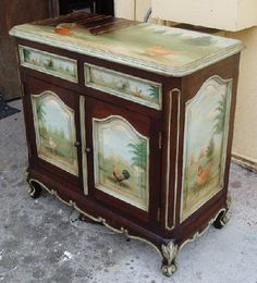 Painted Buffet with Roosters 2