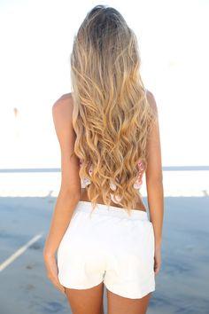 Cut long beautiful hair