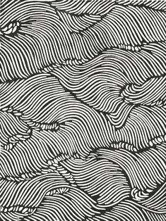 "Képtalálat a következőre: ""minimalist linocut"" Black And White Aesthetic, Black And White Abstract, White Art, Black White, White Patterns, Textures Patterns, Print Patterns, Pattern Designs, Fabric Patterns"