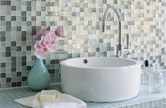 I love the sink and backsplash...the grout on the couneters will be a pain to keep clean