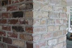 "Whitewashed Bricks Tutorial - using natural paint that let's the bricks ""breathe"" | Design Mom"