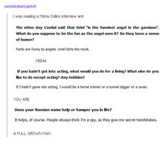 Lovely A Misha Collins Interview With Misha Collins Resume