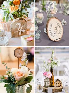 """Wedding reception is the perfect time to eat, drink, and be merry, and one of the first things your guests will see (and even search for) are the table numbers. Table numbers are not just practical """"signs"""", but also decoration pieces. You can get creative and make your own table number signs with just a …"""