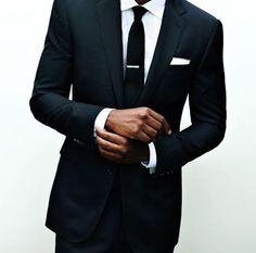 dark skin, tie bars & pocket squares. ohyes.