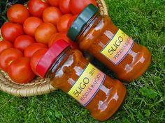 kudy-kam...: Omáčka z pečených rajčat Hot Sauce Bottles, Preserves, Spices, Canning, Red Peppers, Preserving Food, Conservation