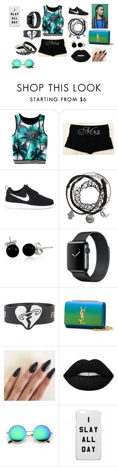 """""""i slay!"""" by aniapenguin on Polyvore featuring NIKE, Bling Jewelry, Yves Saint Laurent and Lime Crime"""