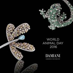 #Damiani pays homage to #WorldAnimalDay with unique jewelry pieces. Animalia: a triumph of colored lights celebrating the beauty of nature.