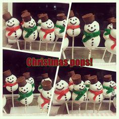 Snowman Christmas pops!