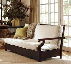 Pottery Barn Futon Sofa.  Maybe one day I'll upgrade my futon to this. Wish it was white, or pink. :D
