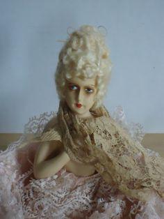 Beautiful Vintage 1920's German Chalkware Boudoir/ Half Doll.