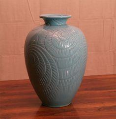Large Danish Modern Ceramic Vase by Knabstrup image 2