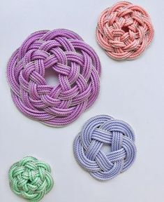Knit Pillow, Macrame Patterns, Rock Art, Knots, Tassels, Crochet Necklace, Weaving, Paper Crafts, Japan