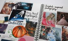 Research book Fairytale inspired sketchbook work. A Level Art Sketchbook, Sketchbook Layout, Textiles Sketchbook, Sketchbook Pages, Sketchbook Inspiration, Sketchbook Ideas, Disney Kunst, Disney Art, Kunst Portfolio