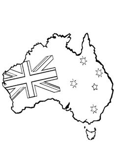 australia day colouring pages | ... Online Printable Kids Colouring Pages - Australian Map Colouring Page