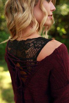 Triangle Back Lace Bralette in Black