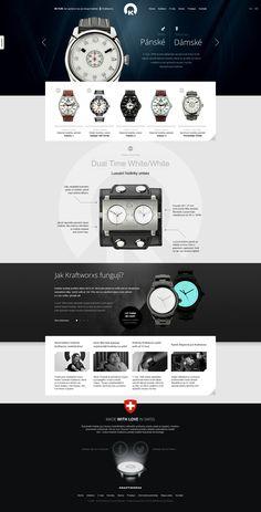 Kraftworxs Watches by ~romankac on deviantART responsive design, web design Web Layout, Website Layout, Layout Design, Web Design Mobile, Web Ui Design, Graphic Design, Media Design, Design Design, Web Design Gallery