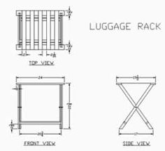 Make a Folding Luggage Rack at Trishs Crafts