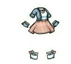 Drawing Anime Clothes, Manga Clothes, Kawaii Drawings, Cute Drawings, Chibi Body, Fashion Drawing Dresses, Clothing Sketches, Cute Art Styles, Chibi Girl