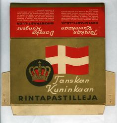 Hellas Tanskan kuninkaan rintapastilleja. Näitä sai vielä ainakin 70-luvulla.