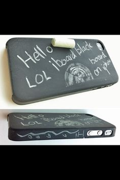 Chalkboard iPhone Case. I SAW SOMEONE WITH THIS SND IF I GET AN iPHONR THEN I WANT THIIIS!