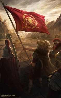 ArtStation - Zems - Banner of the Legion, Deiv Calviz (David Villegas) Fantasy Battle, Medieval Fantasy, Fantasy Art, Ancient Rome, Ancient History, European History, Ancient Aliens, Ancient Greece, American History
