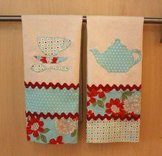 DIY Tea Towels with Moda fabrics