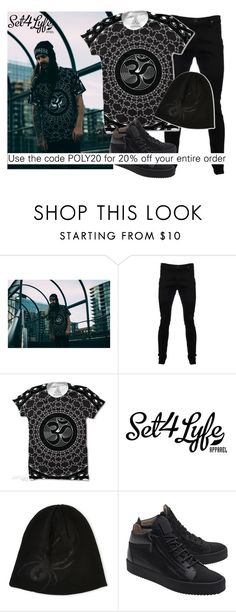 """""""SHOP - Set 4 Lyfe Apparel"""" by ladymargaret ❤ liked on Polyvore featuring Vivienne Westwood Anglomania, Spyder and Giuseppe Zanotti"""