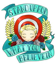 Hurray for the red, white and blue! Listen to Steve and stand up for what you believe in.