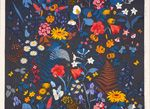 Stugrabatt, gray - Gocken Jobs design - Hand printed textile & interior decoration @ Jobs handtryck