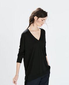 V - NECK T - SHIRT - T - shirts - WOMAN - SALE | ZARA United States