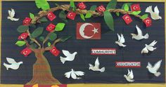 This Pin was discovered by Eme Hobbies And Crafts, Diy And Crafts, Arts And Crafts, Turkey Holidays, Library Room, National Holidays, Teachers' Day, Paper Gifts, Paper Plates