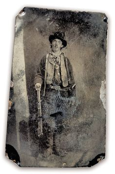 This tintype is the only authenticated image of Billy the Kid. – Courtesy William Koch Collection –