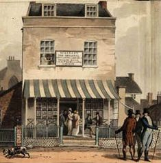 John Wallis's Marine Library at Sidmouth, c. 1809. Once the fashion for sea bathing arrived, Circulating Libraries sprang up in various seaside places for the benefit of their visitors.