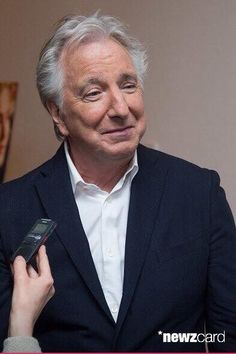 "Alan Rickman at the premiere of ""A Little Chaos"" in New York, June 2015."
