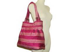 98- bag, purse, light purple striped color, handmade