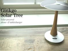 Ginkgo Solar Tree, Solar powered phone and tablet charger by XD Design — Kickstarter.  Ginkgo Solar tree, the environmental friendly source of power. Strong enough to re-charge your mobile phone in 2 hours.