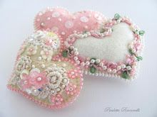 tiny embellished hearts