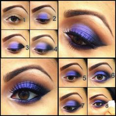 Strong Purple Eyeshadow Tutorial
