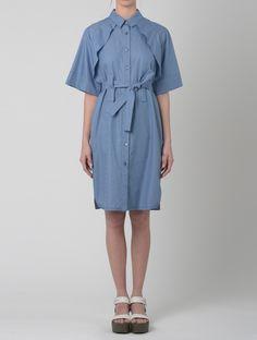 TRENCH DRESS, AO BLUE