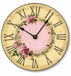 Vintage Rose Wall Clock