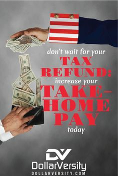 Why wait for your tax refund when you have money needs today?  You could be missing out on hundreds of dollars by not managing your pay deductions properly. This is an important tax tip that can make you hundreds, potentially thousands of dollars, every single year. Wouldn't you rather pay your debt down or save for retirement quicker than you already are? via @EricNisall