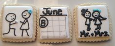 Proposal, Save the Date, Wedding Day - Decorated Sugar Cookies by I Am The Cookie Lady