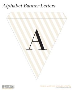 Here is your download file for the Free Alphabet Banner Printable - enjoy!